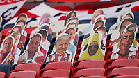 Cardboard cut out spectators, including Donald Trump,  during the Sky Bet League 2 PLAY-OFF Final match between Exeter City and Northampton Town at Wembley Stadium, London, England on 29 June 2020. Photo by Andy Rowland.