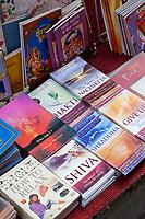 India, Rishikesh.  Books on Hindu Religion and Yoga.
