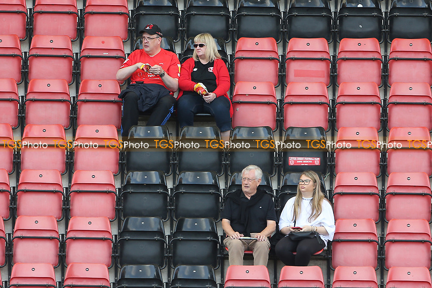 Orient fans await the kick-off during Leyton Orient vs Oldham Athletic, Sky Bet EFL League 2 Football at The Breyer Group Stadium on 11th September 2021