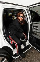 Nov. 10, 2011; Pomona, CA, USA; NHRA funny car driver Melanie Troxel during qualifying at the Auto Club Finals at Auto Club Raceway at Pomona. Mandatory Credit: Mark J. Rebilas-.