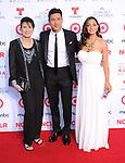 Elvia Lopez, Mario Lopez, Courtney Laine Mazza <br /> <br />  attends The 2013 NCLR ALMA Awards held at the Pasadena Civic Auditorium in Pasadena, California on September 27,2012                                                                               © 2013 DVS / Hollywood Press Agency