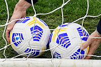 A member of SS Lazio staff collects two Nike Serie A official balls from the goal net during the Serie A football match between SS Lazio and FC Crotone at Olimpico Stadium in Roma (Italy), March 12th, 2021. Photo Andrea Staccioli / Insidefoto