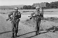 -  Turchia, militari durante esercitazioni NATO in Tracia (1984)....- Turkey, soldiers during NATO military exercises in Thrace (1984)