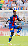 Samuel Umtiti of FC Barcelona in action during their La Liga match between Deportivo Leganes and FC Barcelona at the Butarque Municipal Stadium on 17 September 2016 in Madrid, Spain. Photo by Diego Gonzalez Souto / Power Sport Images