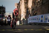 Christopher Hamilton (AUS/Team Sunweb) up the San Luca climb<br /> <br /> Stage 1 (ITT): Bologna to Bologna/San Luca (8.2km)<br /> 102nd Giro d'Italia 2019<br /> <br /> ©kramon