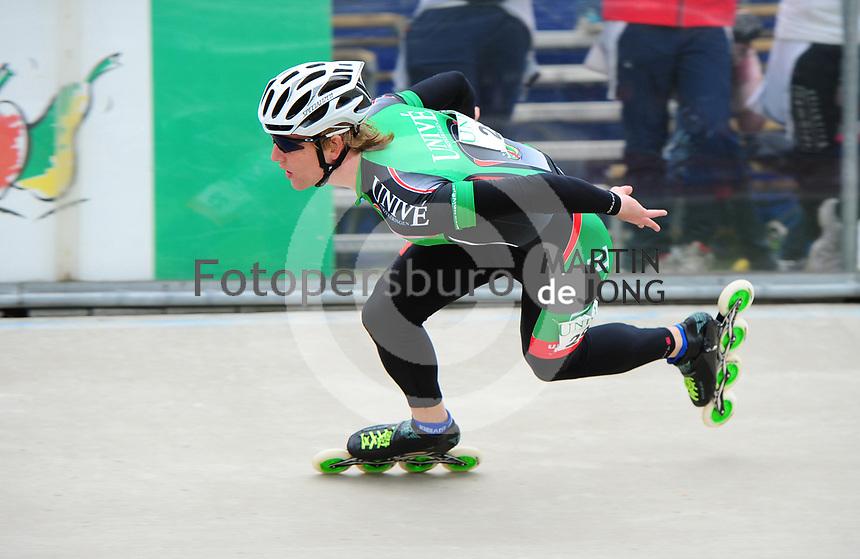 INLINE-SKATEN: HEERDE: Skeeler- en Skatecentrum Hoornscheveen, Europa Cup/UnivÈ Skate Off, 05-05-2012, Michel Mulder (#29), ©foto Martin de Jong