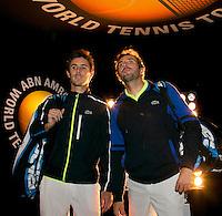 Rotterdam, The Netherlands. 15.02.2014. Julien Benneteau(FRA)/ Edouard Roger-Vasselin(FRA) at the ABN AMRO World tennis Tournament<br /> Photo:Tennisimages/Henk Koster
