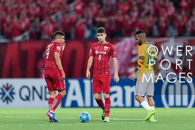 Brazilian players of Shanghai FC, Oscar Emboaba Junior, Elkeson De Oliveira Forwards of Shanghai SIPG and Jiangsu FC Forward Alex Teixeira during the AFC Champions League 2017 Round of 16 match between Shanghai SIPG FC (CHN) vs Jiangsu FC (CHN) at the Shanghai Stadium on 24 May 2017 in Shanghai, China. Photo by Marcio Rodrigo Machado / Power Sport Images