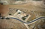 Judean desert, an aerial view of the Greek Orthodox St. Theodosius Monastery