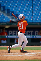 James McCracken (21) of Middle Tennessee Christian School in Murfreesboro, TN during the Perfect Game National Showcase at Hoover Metropolitan Stadium on June 19, 2020 in Hoover, Alabama. (Mike Janes/Four Seam Images)