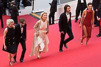 The Jury members for 'a certain regard' Jessica HAUSNER, Diego LUNA, Marthe KELLER (president), Ruben OSTLUND and Celine SALLETTE - CANNES 2016 - MONTEE DES MARCHES DU FILM 'MONEY MONSTER'