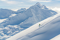 John Morrison skiing in the Chugach mountains, Wrangell-St. Elias National Park and Preserve