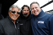 Verizon IndyCar Series<br /> Fernando Alonso Test for Indianapolis 500<br /> Indianapolis Motor Speedway, Indianapolis, IN USA<br /> Wednesday 3 May 2017<br /> Mario and Michael Andretti and Zak Brown<br /> World Copyright: Michael L. Levitt<br /> LAT Images