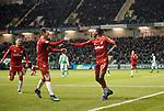 20.12.2019 Hibs v Rangers: Joe Aribo celebrates his goal with Ryan Jack