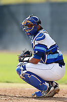Alex Falconi #47 of the Seton Hall Pirates during a baseball game against the Pepperdine Waves at Eddy D. Field Stadium on March 8, 2013 in Malibu, California. (Larry Goren/Four Seam Images)