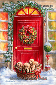 Marcello, CHRISTMAS SYMBOLS, WEIHNACHTEN SYMBOLE, NAVIDAD SÍMBOLOS, paintings+++++,ITMCXM2195,#xx# ,door,wreath,