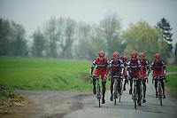 Paris-Roubaix 2012 recon..training Roubaix with Team BMC