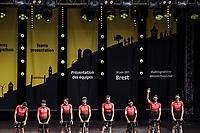 Team Arkéa Samsic at the pre Tour teams presentation of the 108th Tour de France 2021 in Brest at le Grand Départ.