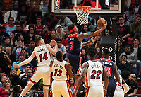 Bradley Beal (G, Washington Wizards, #3) setzt sich durch - 22.01.2020: Miami Heat vs. Washington Wizards, American Airlines Arena
