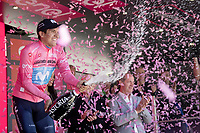 Maglia Rosa / overall leader secures his lead in the GC<br /> <br /> Stage 20: Feltre to Croce D'Aune-Monte Avena (194km)<br /> 102nd Giro d'Italia 2019<br /> <br /> ©kramon
