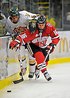 18 January 2008: Northeastern University Huskies' forward Kyle Kraemer, a Sophomore from St. Louis, MO, in action against the University of Vermont Catamounts at Gutterson Fieldhouse in Burlington, Vermont. The two teams battled to a 2-2 tie in the first game of their 2-game weekend series...Mandatory Photo Credit: Ed Wolfstein Photo