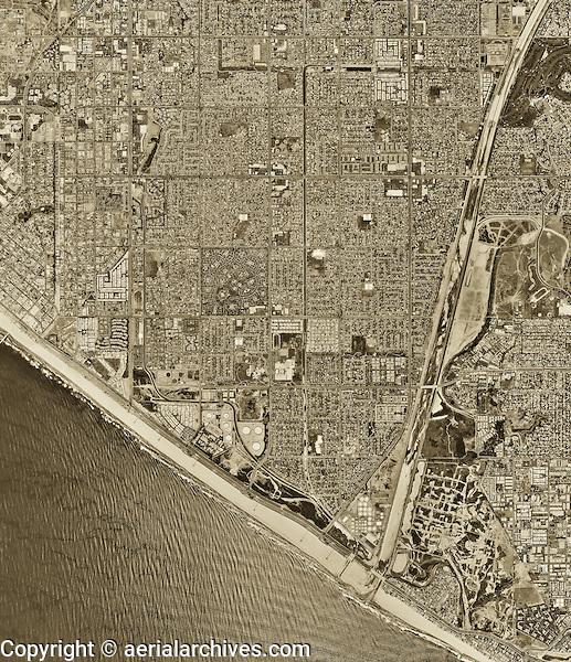 historical aerial photograph Huntington Beach, California, 1994