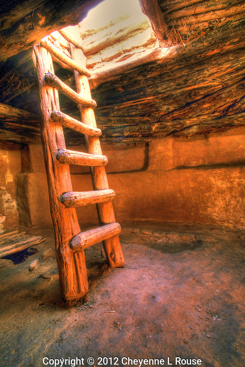 Kiva Ladder - Utah - Edge of the Cedars State Park.<br />