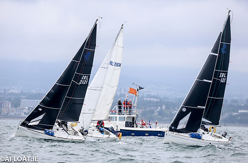 A start of a 2021 Beneteau 211 National Championships race at Dun Laoghaire
