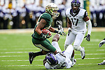 Baylor Bears wide receiver Levi Norwood (42) in action during the game between the TCU Horned Frogs and the Baylor Bears at the McLane Stadium in Waco, Texas. TCU leads Baylor 31 to 27 at halftime.
