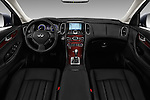 Stock photo of straight dashboard view of 2017 Infiniti QX50 - 5 Door Suv Dashboard