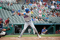 Midland RockHounds Luke Persico (8) bats during a Texas League game against the Frisco RoughRiders on May 21, 2019 at Dr Pepper Ballpark in Frisco, Texas.  (Mike Augustin/Four Seam Images)
