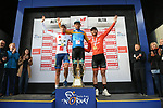 Sergei Chernetski Astana Pro Team wins the overall general classification with Miguel Bryon Holowesko Citadel P/B Arapahoe Resources 2nd place and Collin Joyce (USA) Rally Cycling 3rd at the end of Stage 4 of the 2018 Artic Race of Norway, running 145.5km from Kvalsund to Alta, Norway. 18th August 2018. <br /> <br /> Picture: ASO/Pauline Ballet | Cyclefile<br /> All photos usage must carry mandatory copyright credit (© Cyclefile | ASO/Pauline Ballet)