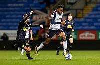 Bolton Wanderers' Reiss Greenidge breaks away from Newcastle United U21's Niall Brookwell (left) <br /> <br /> Photographer Andrew Kearns/CameraSport<br /> <br /> EFL Papa John's Trophy - Northern Section - Group C - Bolton Wanderers v Newcastle United U21 - Tuesday 17th November 2020 - University of Bolton Stadium - Bolton<br />  <br /> World Copyright © 2020 CameraSport. All rights reserved. 43 Linden Ave. Countesthorpe. Leicester. England. LE8 5PG - Tel: +44 (0) 116 277 4147 - admin@camerasport.com - www.camerasport.com