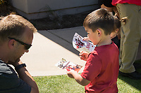 STANFORD, CA -- April 14, 2018. <br /> Fans after the 2018 Stanford Spring Football game Saturday afternoon at the Laird Q. Cagan Stadium.