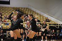 Bentonville team cheers on Thursday, Oct.  7, 2021, during play at Tiger Arena in Bentonville. Visit nwaonline.com/211008Daily/ for today's photo gallery.<br /> (Special to the NWA Democrat-Gazette/David Beach)