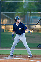 AZL Brewers first baseman Pat McInerney (62) at bat against the AZL Dodgers on July 25, 2017 at Camelback Ranch in Glendale, Arizona. AZL Dodgers defeated the AZL Brewers 8-3. (Zachary Lucy/Four Seam Images)