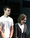 "Lucas Hedges and Elaine May during the Opening Night Curtain Call bows for ""The Waverly Gallery"" at the Golden Theatre on October 25, 2018 in New York City."