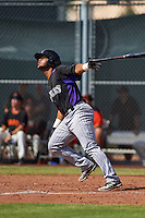 Colorado Rockies Hamlet Marte (62) during an instructional league game against the San Francisco Giants on October 7, 2015 at the Giants Baseball Complex in Scottsdale, Arizona.  (Mike Janes/Four Seam Images)