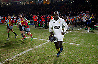Photo: Richard Lane/Richard Lane Photography. Harlequins v Wasps.  European Rugby Champions Cup. 13/01/2018. Wasps' Christian Wade runs out for his 150th appearance.