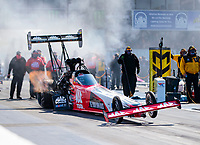 Oct 4, 2020; Madison, Illinois, USA; NHRA top fuel driver Doug Kalitta during the Midwest Nationals at World Wide Technology Raceway. Mandatory Credit: Mark J. Rebilas-USA TODAY Sports