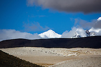 Mountains in the region of Mount Everest, Tibet