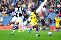 Nathan Ferguson of West Bromwich Albion battles with Nathan Dyer of Swansea City during the Sky Bet Championship match between West Bromwich Albion and Swansea City at The Hawthorns in Birmingham, England, UK. Sunday 08 December 2019