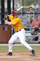 Seton Hill Griffins Brad Comport #11 during a game vs. Slippery Rock at Lake Myrtle Field in Auburndale, Florida;  March 5, 2011.  Seton Hill defeated Slippery Rock 14-1.  Photo By Mike Janes/Four Seam Images