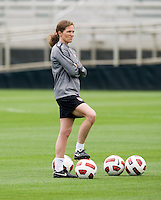 Hege Riise. The USWNT practice at WakeMed Soccer Park in preparation for their game with Japan.