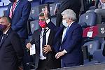FC Barcelona's President Joan Laporta (l) and Atletico de Madrid's President Enrique Cerezo during La Liga match. May 8, 2021. (ALTERPHOTOS/Acero)