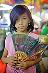 Young Girl Selling Fans