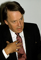 FILE PHOTO - Bernard Landry<br />  in 1988.<br /> <br /> Photo : Pierre Roussel - Agence Quebec Presse