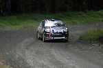 14th September 2012 - Devils Bridge - Mid Wales : WRC Wales Rally GB SS6 Myherin stage : Molly Taylor (AUS) and co driver Sebastian Marshall (GBR) in their Citroen DS3 R3T.