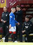 27.09.2020 Motherwell v Rangers:  Steven Gerrard and Ryan Kent