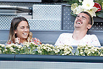 Atletico de Madrid's player Antoine Griezmann with his girlfriend during Madrid Open Tennis 2015 match.May, 8, 2015.(ALTERPHOTOS/Acero)